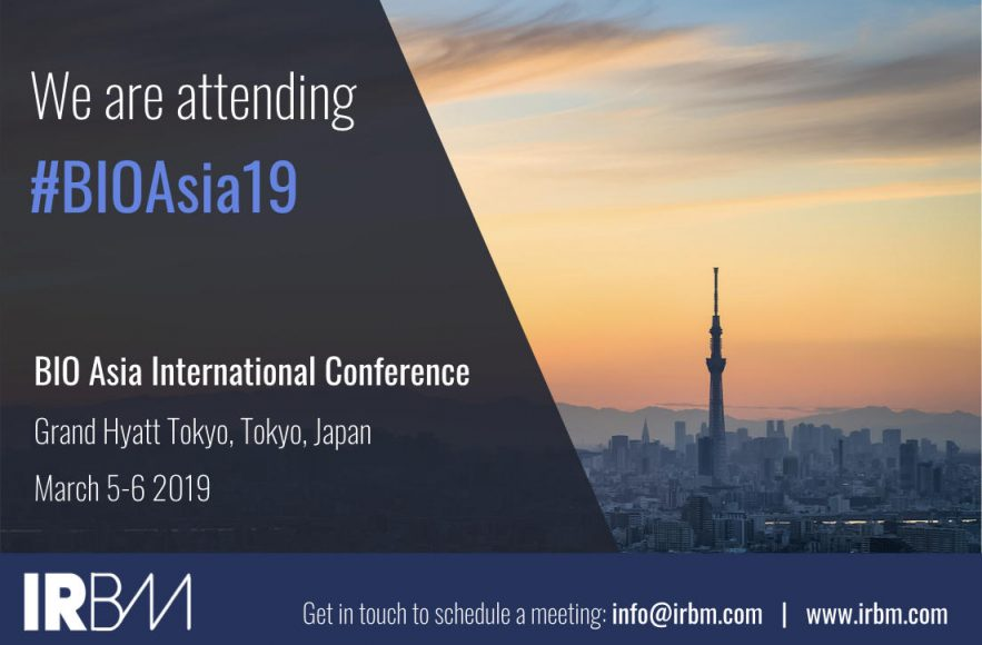IRBM Is Attending The BIO Asia International Conference 2019