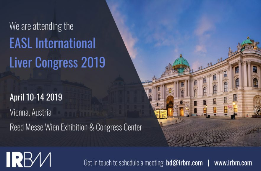 IRBM Is Attending The EASL International Liver Congress 2019
