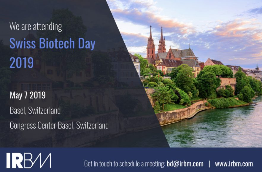 IRBM Is Attending Swiss Biotech Day 2019