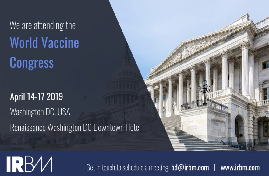 IRBM Is Attending The World Vaccine Congress 2019