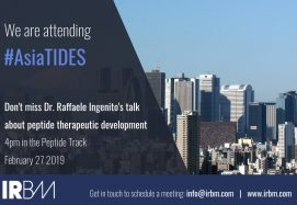 IRBM Is Attending Asia TIDES: Oligonucleotides And Peptide Therapeutics 2019