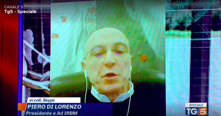 "Vaccine – Piero Di Lorenzo, President And CEO Of IRBM Of Pomezia (Rome), To TG5: ""We Have Started The Manufacturing, We Are Optimistic""."