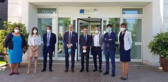 On June 18 Health Minister Roberto Speranza, Together With Nicola Magrini Director General Of AIFA, Visited IRMB